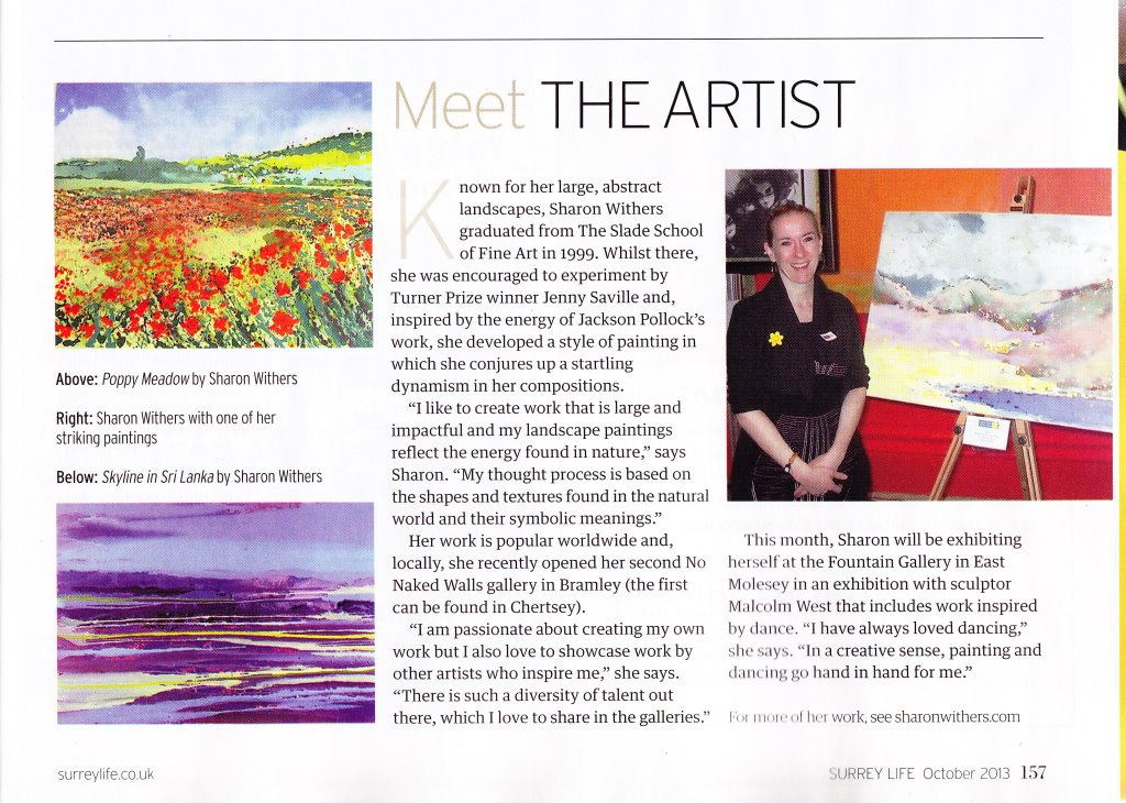 Surrey life feature Sharon Withers (s)