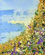 Sharon Withers Summer Genesis abstract coastline for sale