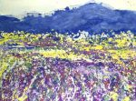 Sharon Withers Blue Mountain abstact painting for sale