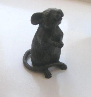 Suzie Marsh Wilfred bronze resin mouse sculpture for sale