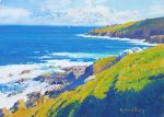 Richard Thorn Cornish Blue coastal painting for sale