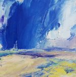 Andrew Kinmont Dark Blue Clouds abstract oil painting for sale