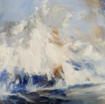 Andrew Kinmont 'White Water' Dynamic Sea Painting For Sale