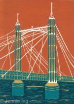 Jennie Ing Albert Bridge london pop art print