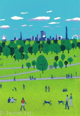 Jennie Ing Primrose Hill london skyline art print