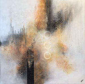 Andrea Gill Distance I muted abstract minimalist art