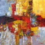 Madjid Abstract III original abstract oil painting for sale