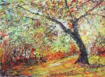 Sharon Withers Autumn Splendour abstract tree art for sale