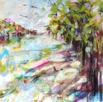Jane Upstone Walk In The Park colourful landscape for sale