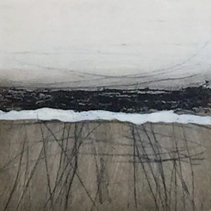Carol Grant Study II moody abstract minimal landscape for sale