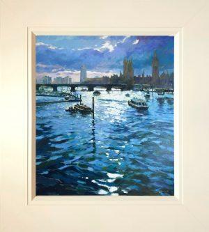 John Hammond Breaking Light Across The Thames framed