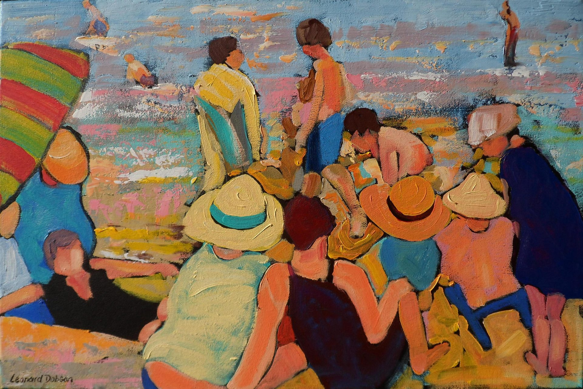 Leonard Dobson A Beautiful Summer's Day painting for sale