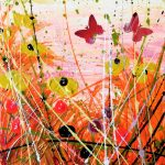 Tracey Thornton Luminous Light butterfly floral art for sale