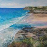 Grace Ellen Aqua Tides Church Cove cornish painting for sale