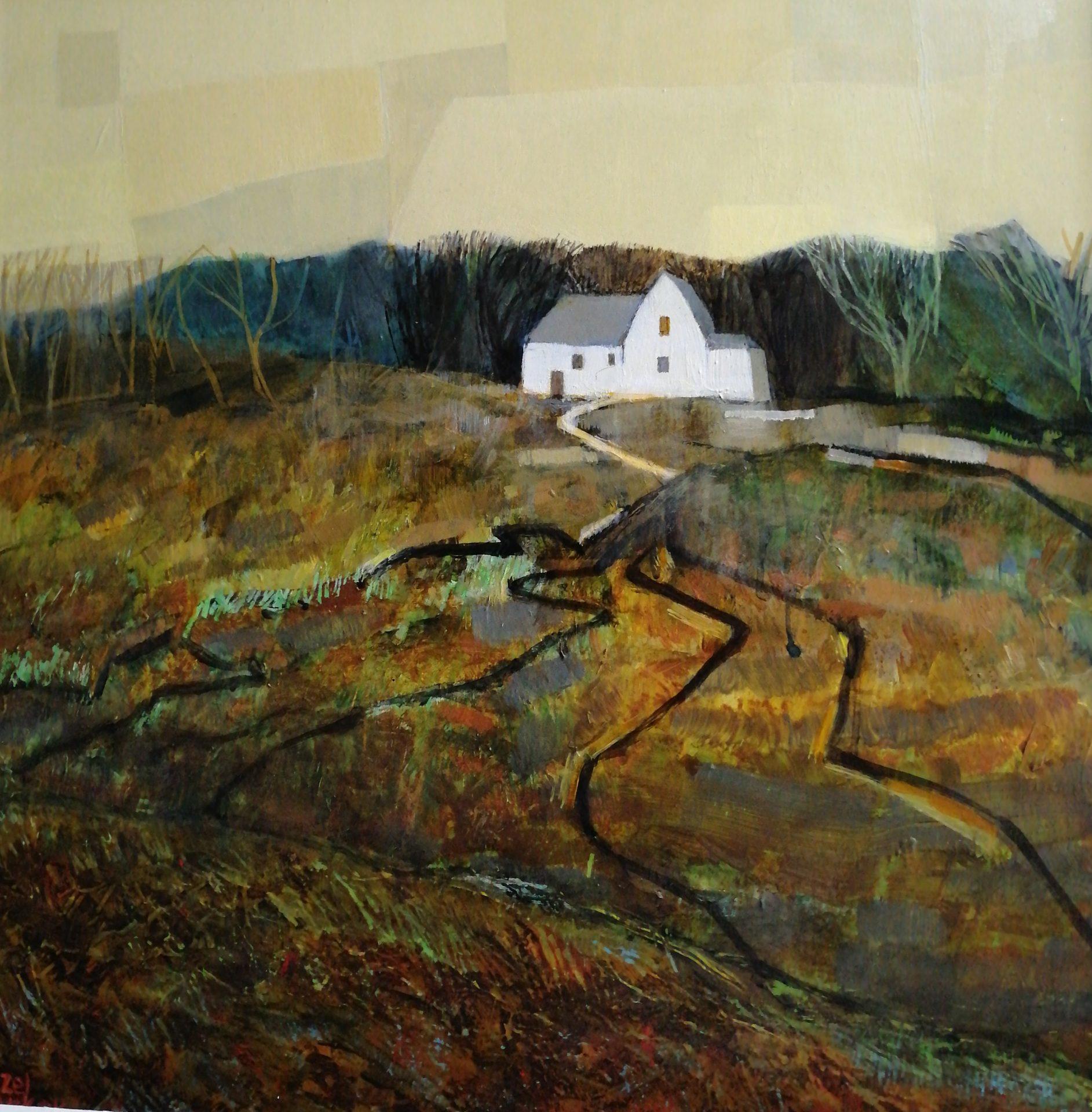 Hazel Barker Saffron's Retreat provence landscape art for sale