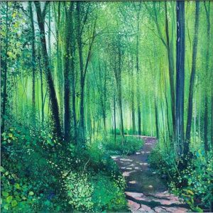 Early Summer Walk Connolly framed forest painting for sale