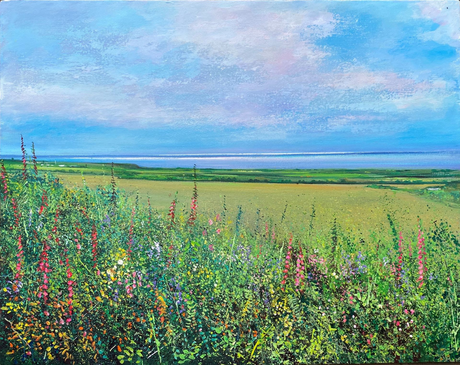 John Connolly From Tinners Way cornish meadow art for sale