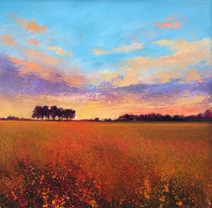 John Connolly Tranquil Evening meadow painting for sale