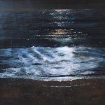 Gold Dark water Howard Birchmore framed
