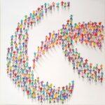 Juan Aliaga Follow The Leader pop art colour painting for sale