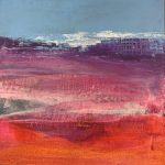 Jane Wachman Mirage 34 x 34 abstract colour original painting for sale