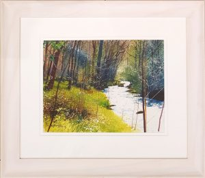 Richard Thorn Back To The River framed original watercolour art landscape art for sale