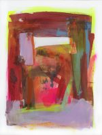Jane Wachman To the Souk abstract moroccan market painting for sale