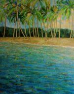 Hazel Barker Memories of Barbados framed tropical island art for sale