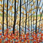 Ali Mourabet Autumn Footprints graphic painting for sale