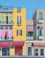 Ali Mourabet Shababeek Windows colourful buildings art for sale