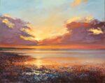 John Connolly Coastal Sunset acrylic painting