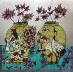 Emma Forrester Summoning Spring still life silver