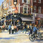 John Hammond Busy Corner Covent Garden painting