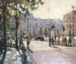 John Hammond Across the Square london painting