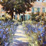 John Hammond A Stroke of Blue garden painting