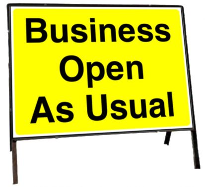 Business open as normal